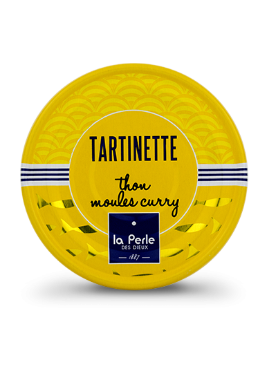 Tartinettes de thon et moules au curry