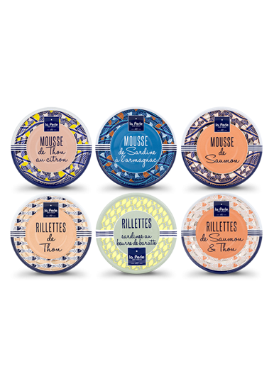 Assortiment de rillettes et de mousses