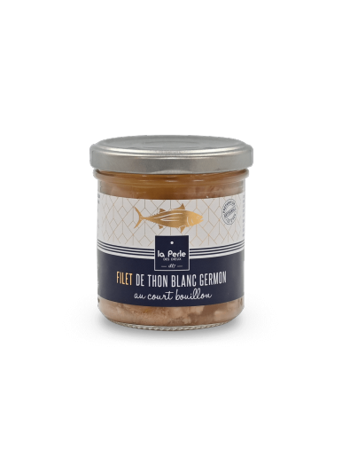 Filets de thon blanc Germon au court bouillon 140g